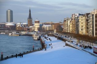 old town and river Rhine banks (26 images)