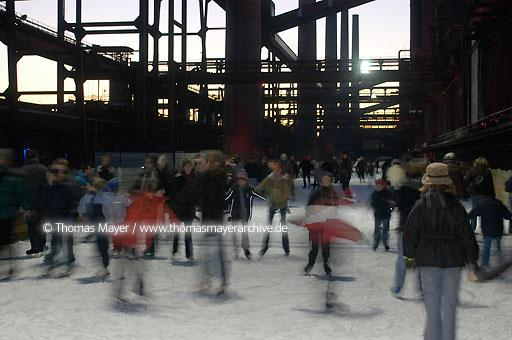 ice rink on cokerie Zollverein