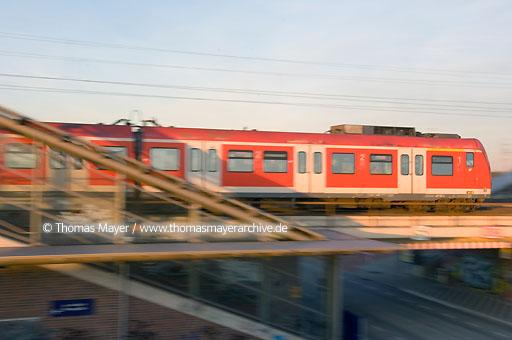 Local traffic, rail Germany, local commuter train, S-Bahn in the station Neuss-Allerheiligen  133AA20070404D7495