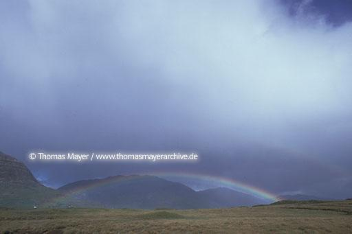 Ireland IRL, Ireland, Donegal, landscape with rainbow  135AD19740523A0008