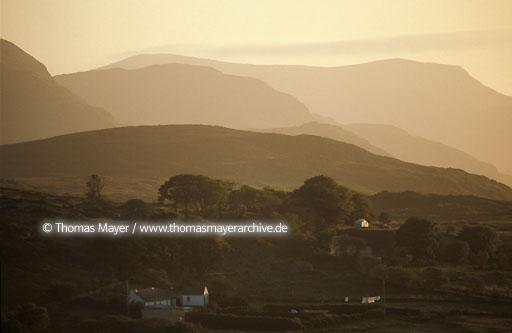 Ireland IRL, Ireland, Donegal, scenery near Ardara at sunset  135AD19740523A0063