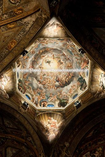 Cathedral Parma ITA, Italy, Cathedral, painting by Antonio Allegri 1526-1530  104AZ20090304D1319