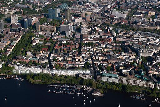 Flugaufnahmen Hamburg DEU, Germany, Hamburg, aerial view on St.Georg  110BK20100602D0054