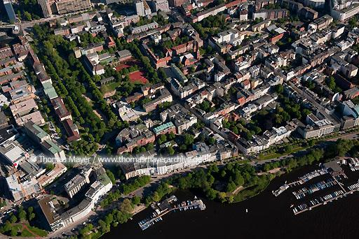 Flugaufnahmen Hamburg DEU, Germany, Hamburg, aerial view on St.Georg  110BK20100602D0057