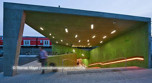 Underground crossing station Benrath DEU, Germany, new underground crossing station Dusseldorf-Benrath, architecture by Agirbas & Wienstroer  110BL20100701D9594