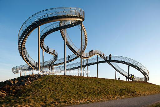 "Tiger & Turtle DEU, Germany, Duisburg, sculpture ""Tiger & Turtle - Magic Mountain"" by Heike Mutter and Ulrich Genth on Heinrich-Hildebrand-Hoehe in Angerpark, Duisburg  110CA20111115D3698"