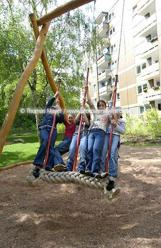 playground playgrounds in a housing aerea in Recklinghausen, Germany  025AF20040517D0083