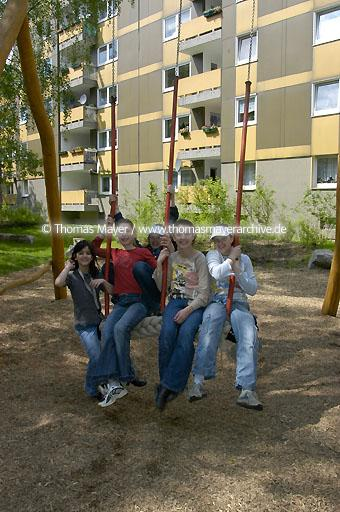 playground playgrounds in a housing aerea in Recklinghausen, Germany  025AF20040517D1708