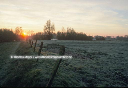 Lower Rhine Lower Rhine, sunrise near Xanten  106AA19970605A0106