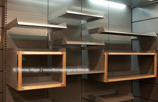 Hnasa Mertens, Antwerp Hansa Mertens in Antwerp Belgium develops and produces standardized and customized shelving systems, shelfs in the showroom  077AB20020125D8109
