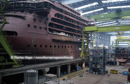 Meyer Shipyard Papenburg Meyer Werft - Jos. L. Meyer GmbH - was founded in 1795. For 210 years Meyer Werft has successfully built special ships in the town of Papenburg on the river Ems, Germany  089AA20020809D6899