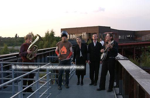 theatre play Union der festen Hand on mine Zollverein world cultural heritage mine Zollverein, Essen, Germny, theatre play Union der festen Hand, dircted by Stephan Stroux, playes on different places of the site  200BN20030729D7307