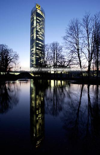 Post Tower, Bonn Post Tower in Bonn, Germany, headquarters of Deutsche Post AG, with 162,5 meters the highest office-building in Northrhine-Westphalia. architect: Helmut Jahn  110AA20030315D5432