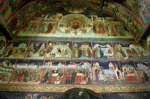 Sucevita Monastery Monastery Sucevita, nuns monastery, famous frescoes inside and outside of the church  117AB20040902D1525