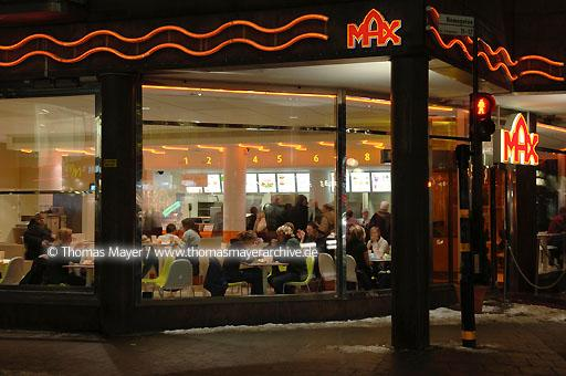 Max Hamburger Stockholm Max Hamburger, Swedish fast food chain in Stockholm, Sweden  064AJ20050224D2892