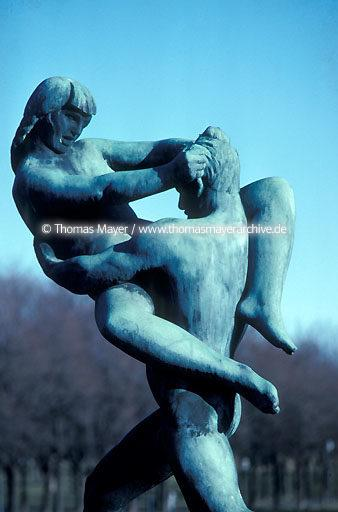 Oslo Oslo, Norway, sculptures by Vigeland in Frogner Park  115AF19940218A0047