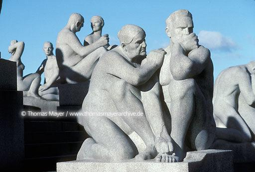 Oslo Oslo, Norway, sculptures by Vigeland in Frogner Park  115AF19940218A0048