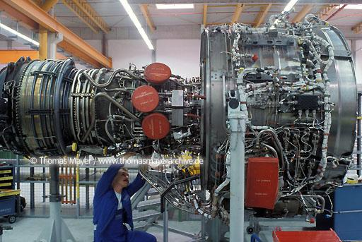MTU Maintenance MTU-Maintenance Hannover Airport, maintenance of airbus-jet-engines  123AD19900418A0001